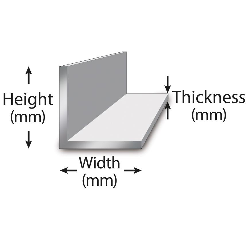 Metric 6060 Aluminum Angle Metric Metal