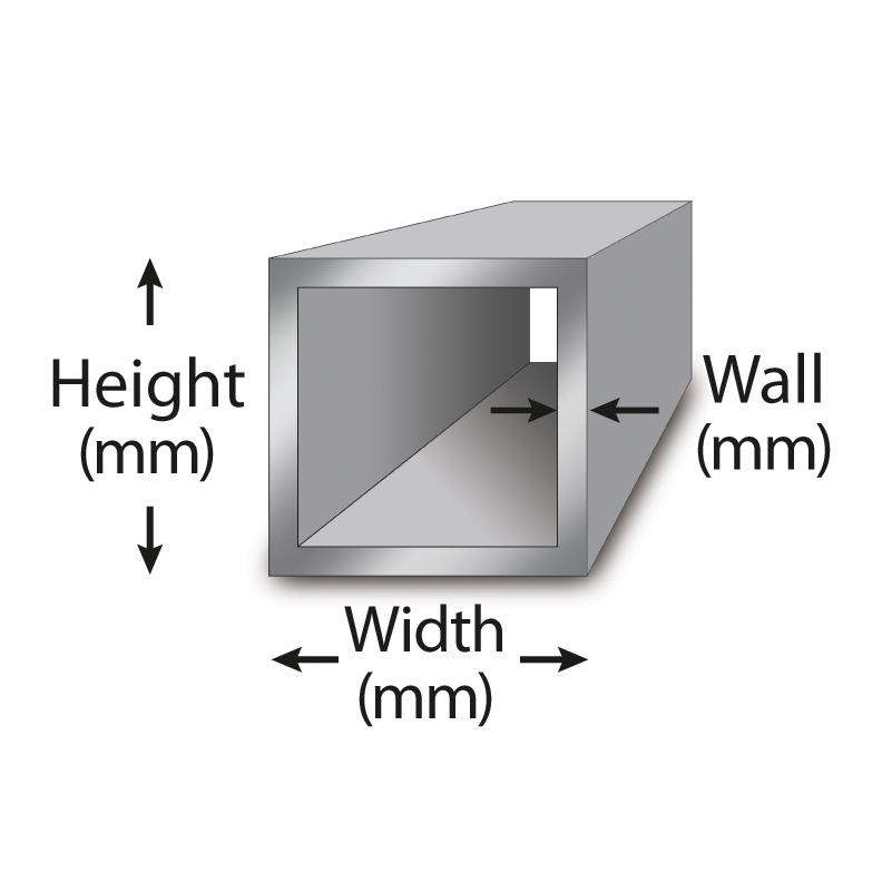 Aluminum Tubing Sizes >> Metric 6060 Aluminum Square Tube Metric Metal